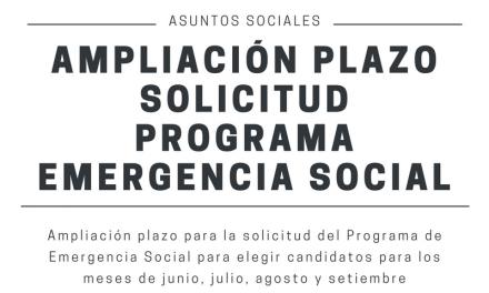 Ampliación plazo Programa de Emergencia Social