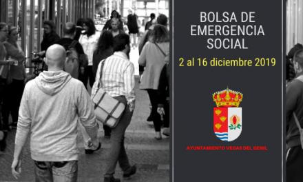 Del 2 al 16 de diciembre de 2019 nuevo plazo de solicitud Programa de Emergencia Social