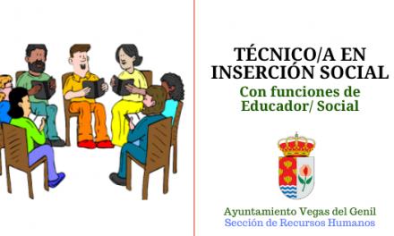 Proceso selectivo TÉCNICO/A EN INSERCIÓN SOCIAL