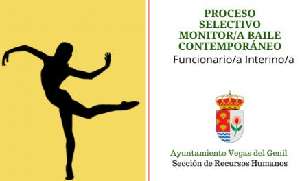 Convocatoria Plaza Monitor/a de Baile contemporáneo