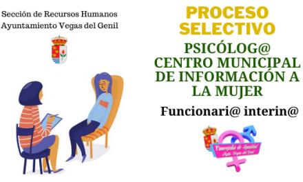 CONVOCATORIA PLAZA DE PSICÓLOGO/A CENTRO MUNICIPAL DE INFORMACIÓN A LA MUJER